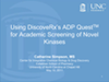 Using DiscoverX's ADP QuestTM for Academic Screening of Novel Kinases